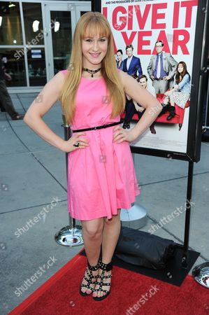 "Ariana Sloan arrives at a special screening for ""I Give It A Year"" at the ArcLight Hollywood on in Los Angeles"
