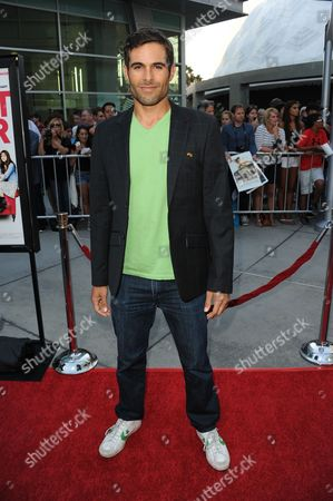 "Christopher Wolfe arrives at a special screening for ""I Give It A Year"" at the ArcLight Hollywood on in Los Angeles"