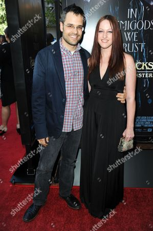 "Thor Freudenthal, left, and IAMEVE arrive at a special screening of ""Percy Jackson: Sea of Monsters"" at The Americana at Brand Pacific Theaters on in Glendale, Calif"