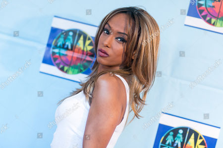 Trina McGee arrives at the Let's Celebrate! District Wide Arts Festival held at The Academy of Motion Pictures Arts & Sciences, in Beverly Hills, Calif