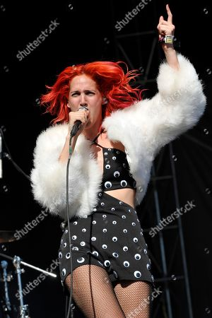 Lizzy Plapinger of MS MR performs at Lollapalooza at Grant Park, in Chicago, Illinois