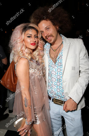 Neon Hitch and guest attend the after party for the premiere of 'Are You Here' Presented by Purity Vodka on in Hollywood, California