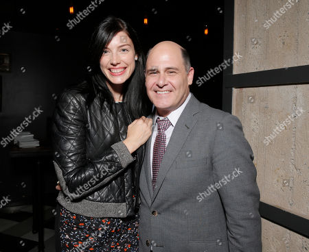 Jessica Pareand Director Matt Weiner attend the after party for the premiere of 'Are You Here' Presented by Purity Vodka on in Hollywood, California