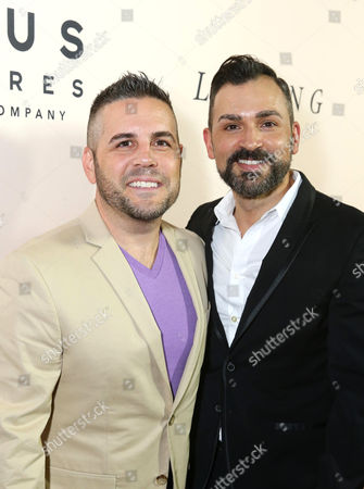 Jeff Zarrillo and Paul Katami seen at the Los Angeles Premiere of Focus Features' LOVING at the Samuel Goldwyn Theater, in Beverly Hills, Calif