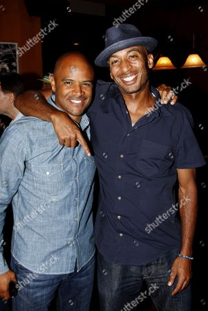 Actors Dondre Whitfield and James Lesure attend Marcus Allen Foundation 2013 Celebrity Invitational Poker Tournament on Sunday, June 2nd, 2013 at Lucky Strike Hollywood in Los Angeles, California