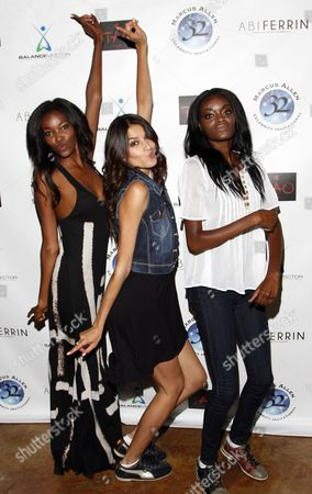 L-R) Fashion models Tia Shipman, Veronica Jacques and Leslie Allen attend Marcus Allen Foundation 2013 Celebrity Invitational Poker Tournament on Sunday, June 2nd, 2013 at Lucky Strike Hollywood in Los Angeles, California