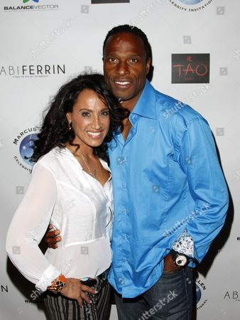 Suzan Brittan and Willie Gault attend Marcus Allen Foundation 2013 Celebrity Invitational Poker Tournament on Sunday, June 2nd, 2013 at Lucky Strike Hollywood in Los Angeles, California