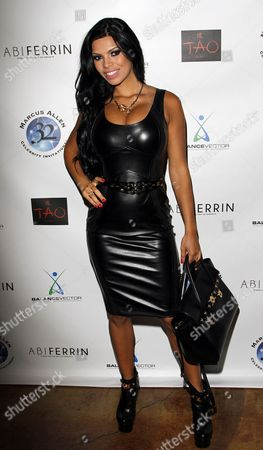 Stock Image of Model Suelyn Medeiros attends Marcus Allen Foundation 2013 Celebrity Invitational Poker Tournament on Sunday, June 2nd, 2013 at Lucky Strike Hollywood in Los Angeles, California