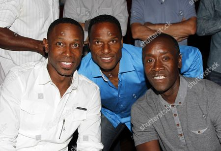 L-R) Kenny Lofton, Willie Gault and Don Cheadle participate in Marcus Allen Foundation 2013 Celebrity Invitational Poker Tournament on Sunday, June 2nd, 2013 at Lucky Strike Hollywood in Los Angeles, California