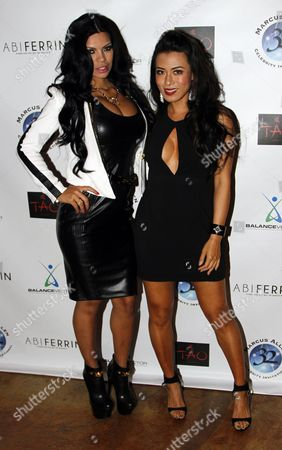 Model Suelyn Medeiros and actress Juting Tsang attend Marcus Allen Foundation 2013 Celebrity Invitational Poker Tournament on Sunday, June 2nd, 2013 at Lucky Strike Hollywood in Los Angeles, California