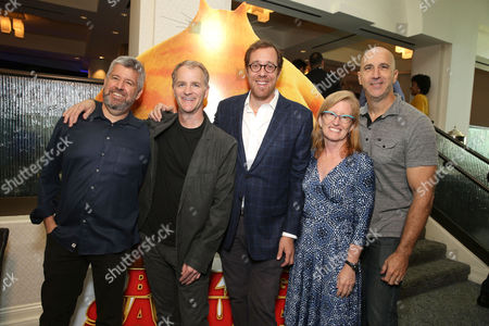 Producer Yair Landau, Director Chris Bailey, Producer Rob Minkoff, Producer Susan Purcell and Director Mark Koetsier seen at Mass Animation 'Blazing Samurai' AFM Presentation, in Santa Monica, CA