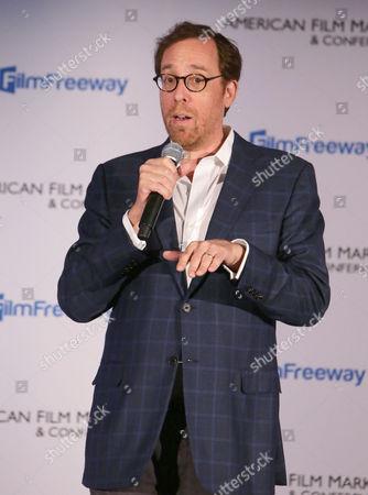 Producer Rob Minkoff seen at Mass Animation 'Blazing Samurai' AFM Presentation, in Santa Monica, CA