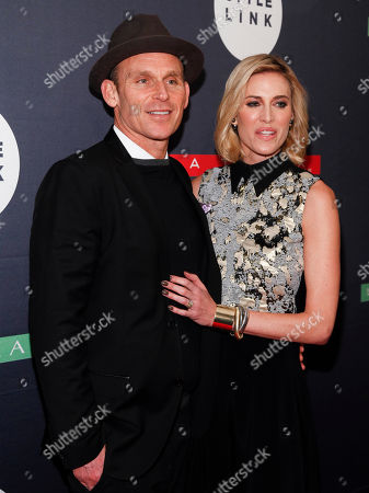Josh Taekman, left, and Kristen Taekman, right, attend Matrix's Biolage Cleansing Conditioner and Style Link launch event at The Crosby Street Hotel, in New York