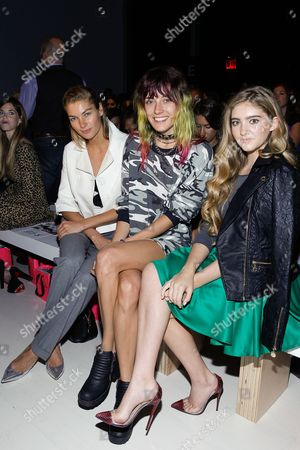 Jessica Hart, Chloe Norgaard and Willow Shields and seen at MBFW Spring/Summer 2015 - Betsey Johnson at Lincoln Center on in New York