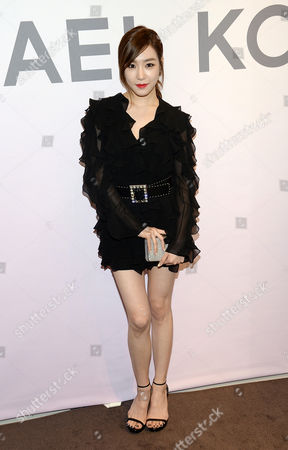 Singer Tiffany Hwang attends the Miranda Eyewear Collection launch event, hosted by Michael Kors at his SoHo Flagship store,, in New York