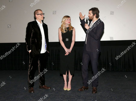 Director Juan Solanas, Kirsten Dunst and Jim Sturgess introduce Millennium Entertainment's Upside Down Los Angeles Premiere hosted by Quintessentially at Arclight Hollywood on in Los Angeles