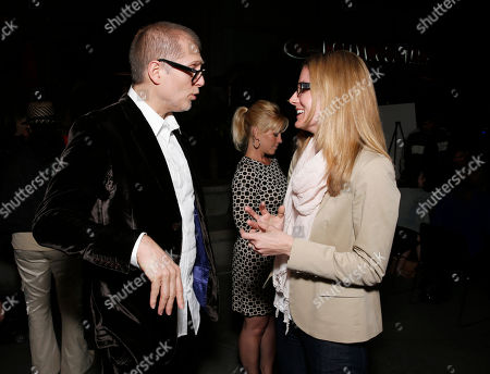 Director Juan Solanas and Millennium Entertainment's EVP of Marketing Brooke Ford attend Millennium Entertainment's Upside Down Los Angeles Premiere hosted by Quintessentially at Arclight Hollywood on in Los Angeles