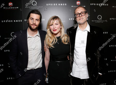 Jim Sturgess, Kirsten Dunst and Director Juan Solanas attend Millennium Entertainment's Upside Down Los Angeles Premiere hosted by Quintessentially at Arclight Hollywood on in Los Angeles