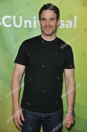 Eddie McClintock arrives at the NBC Universal Summer Press Day, in Pasadena, Calif