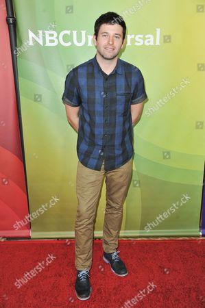 Brent Morin arrives at the NBC Universal Summer Press Day, in Pasadena, Calif