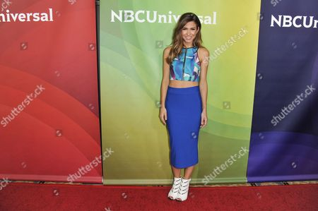 Orly Shani arrives at the NBC Universal Summer Press Day, in Pasadena, Calif
