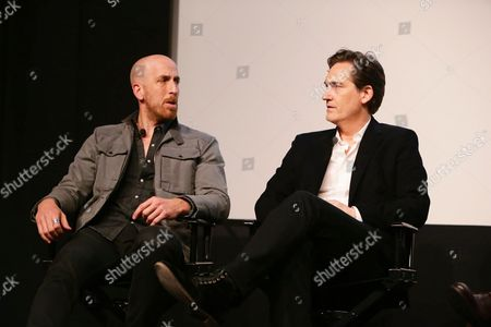 """Creator/Writer/Exec. Producer Todd A. Kessler and Creator/Writer/Exec. Producer Daniel Zelman seen at Netflix """"Bloodline"""" Television Academy Screening at the Pacific Design Center, in Los Angeles, CA"""