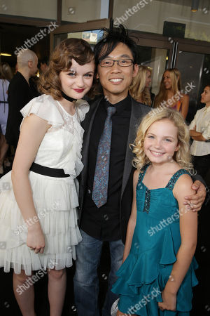 Joey King, Director James Wan and Kyla Deaver seen at New Line Cinema's 'The Conjuring' Premiere, on Monday, July, 15, 2013 in Los Angeles