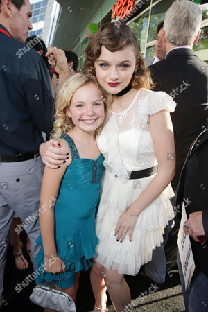 Kyla Deaver and Joey King seen at New Line Cinema's 'The Conjuring' Premiere, on Monday, July, 15, 2013 in Los Angeles