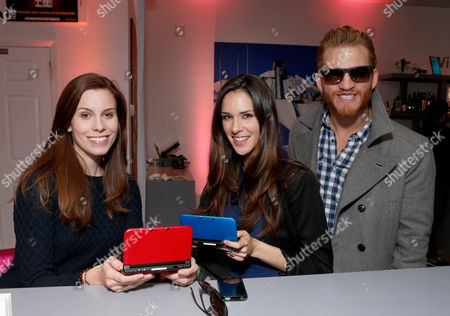 Lauren Reeder; Katie Savoy; Brent Chase From left, actors Lauren Reeder, Katie Savoy and Brent Chase warm up and check out Nintendo 3DS XL at the Nintendo Lounge during a break from the Sundance Film Festival on in Park City, UT