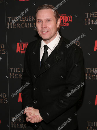 """Stock Photo of Composer Tuomas Kantelinen attends a screening of """"The Legend of Hercules"""", in New York"""