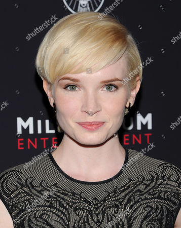 "Actress Elizabeth Olin attends a special screening of ""Killing Season"" hosted by Jagermeister at the Sunshine Landmark Theater on in New York"