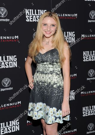 """Actress Cortland Tate attends a special screening of """"Killing Season"""" hosted by Jagermeister at the Sunshine Landmark Theater on in New York"""