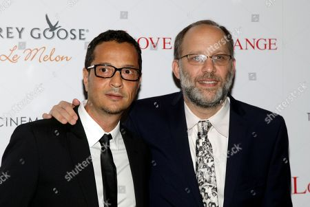 """Screenwriter Mauricio Zacharias and director Ira Sachs, right, attend a screening of """"Love Is Strange"""" on in New York"""