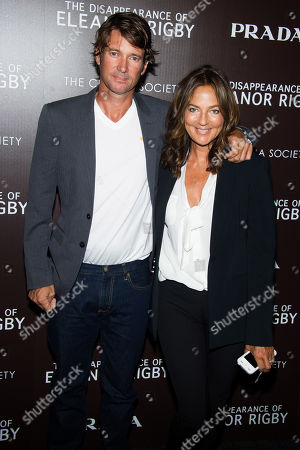 """Nick Manifold and Kelly Klein attend a screening of The Weinstein Company's """"The Disappearance Of Eleanor Rigby"""" hosted by Prada and The Cinema Society on in New York"""