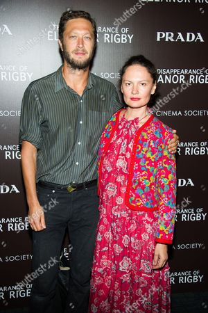 "Ebon Moss-Bachrach and Yelena Yemchuk attend a screening of The Weinstein Company's ""The Disappearance Of Eleanor Rigby"" hosted by Prada and The Cinema Society on in New York"
