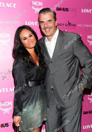 """Actor Chris Noth and wife Tara Wilson attend a special screening of Radius TWC's """"Lovelace"""" hosted by The Cinema Society and MCM, in New York"""