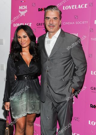 """Actor Chris Noth and wife Tara Wilson attend a special screening of Radius TWC's """"Lovelace"""" hosted by The Cinema Society and MCM on in New York"""