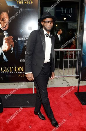 """Actor Nelsan Ellis attends the world premiere of """"Get On Up"""" at the Apollo Theater, in New York"""