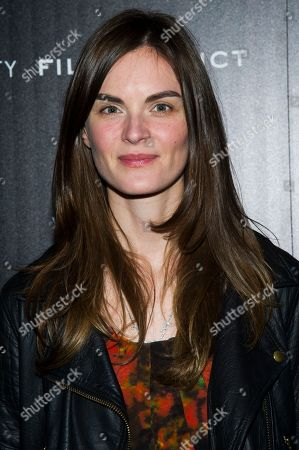 """Anouck Lepere attends a screening of FilmDistrict's """"Olympus Has Fallen"""" hosted by the Cinema Society with Roger Dubuis and Grey Goose on in New York"""