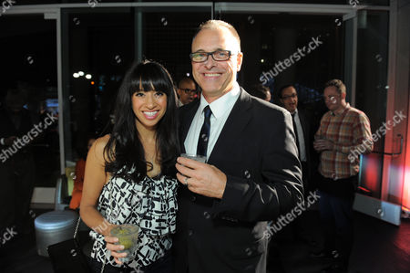 Stock Photo of Actor Barry W. Levy, right, and actress, producer and blogger Helenna Santos-Levy attend OUT Magazine's 20th Anniversary Party presented by Lexus at Station at W Hotel on in Los Angeles