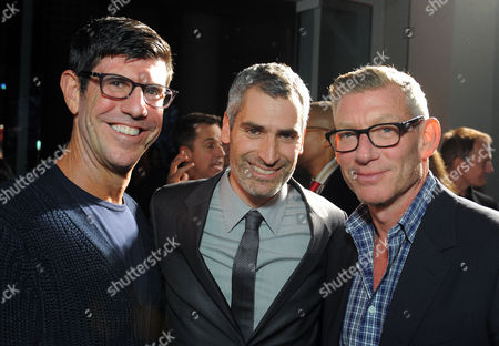Rich Ross, left, OUT Magazine Editor in Chief Aaron Hicklin, center, and a guest attend OUT Magazine's 20th Anniversary Party presented by Lexus at Station at W Hotel on in Los Angeles