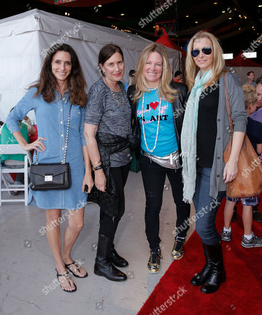 Elizabeth Stewart, Amy Rappeport, Maria Bell and Lisa Kudrow attend P.S. Arts Express Yourself 2014 at Barker Hanger on in Santa Monica, Calif