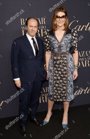 Prosper Assouline and Martine Assouline attend the Panthere de Cartier Collection dinner & party at Skylight Clarkson Studios, in New York