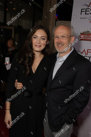 NOVEMBER 09: Alexa Davalos and Producer Pieter Jan Brugge at Paramount Vantage Premiere of 'Defiance' at the 2008 AFI Fest Closing Night Gala on at the Cinerama Dome in Hollywood, CA