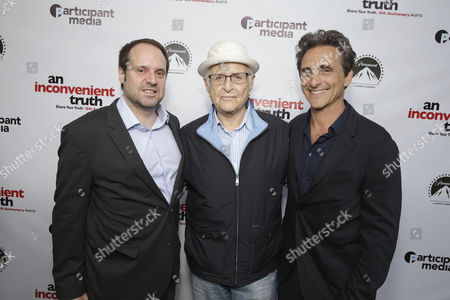"Founder & Chairman - Participant Media and Exec. Producer Jeff Skoll, Norman Lear and Producer Lawrence Bender seen at Participant Media 10 Year Anniversary Celebration of ""An Inconvenient Truth"", in Los Angeles, CA"