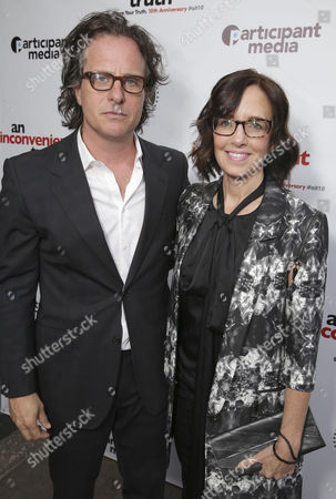 "Exec. Producer/Director Davis Guggenheim and Co-Producer Lesley Chilcott seen at Participant Media 10 Year Anniversary Celebration of ""An Inconvenient Truth"", in Los Angeles, CA"