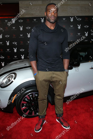 Simeon Rice arrives at the Playboy Super Bowl XLIX Party on in Scottsdale, Ariz