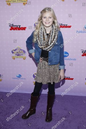 """Actress Harley Graham attends the premiere of """"Sofia the First: Once Upon a Princess"""" at Disney Studios, in Burbank, Calif"""