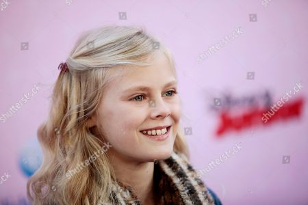 """Stock Picture of Actress Harley Graham attends the premiere of """"Sofia the First: Once Upon a Princess"""" at Disney Studios, in Burbank, Calif"""