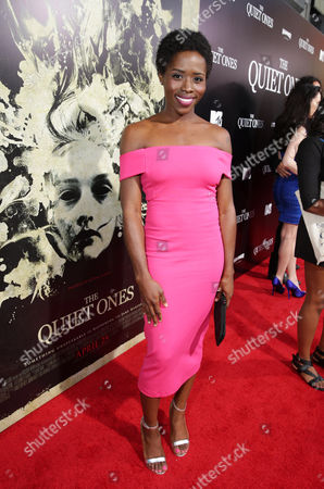 Sola Bamis seen at the Los Angeles Premiere of Lionsgate's 'The Quiet Ones', in Los Angeles